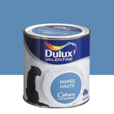Peinture bleu marée haute DULUX VALENTINE Crème de couleur 05 l - peinture sur beton brut