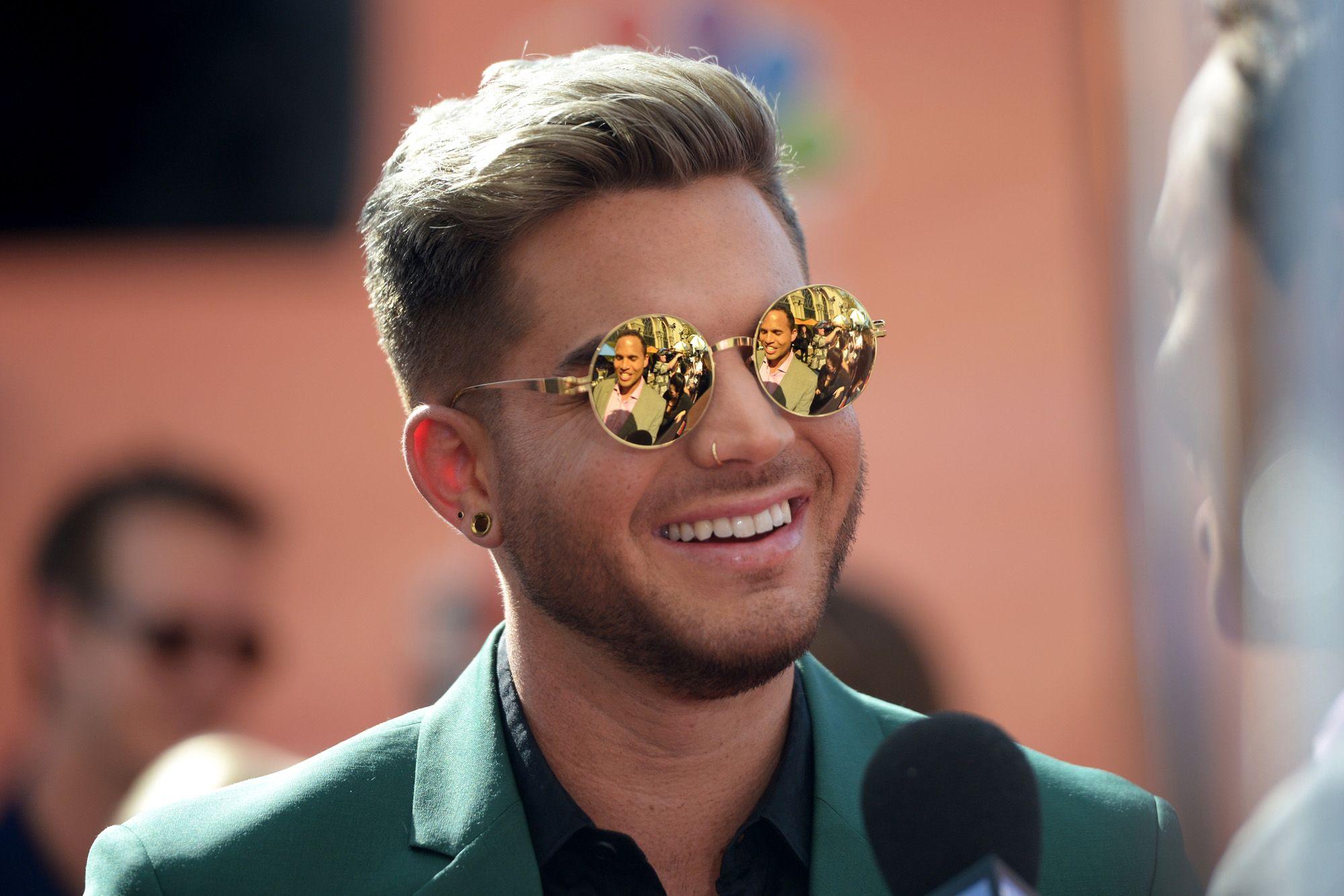 Adam Lambert on the Iheart Radio Music Awards Red Carpet 2014
