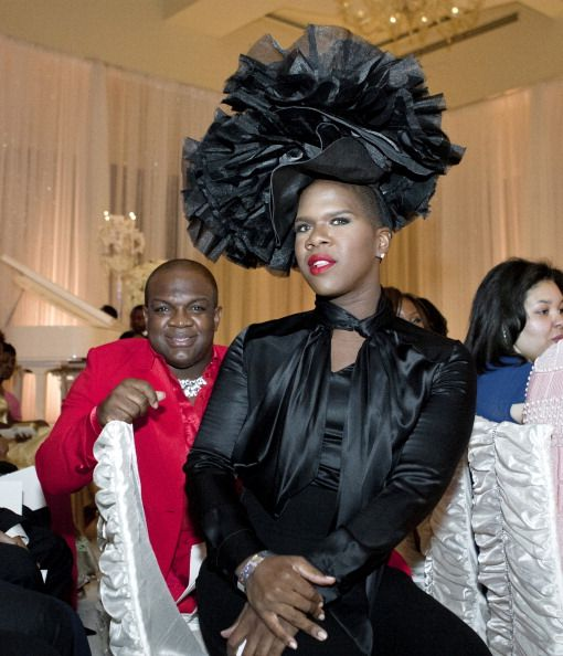Miss Lawrence Derek J Petal Shrug Hat Housewives Of Atlanta Fantasy Wedding Celebrity Style