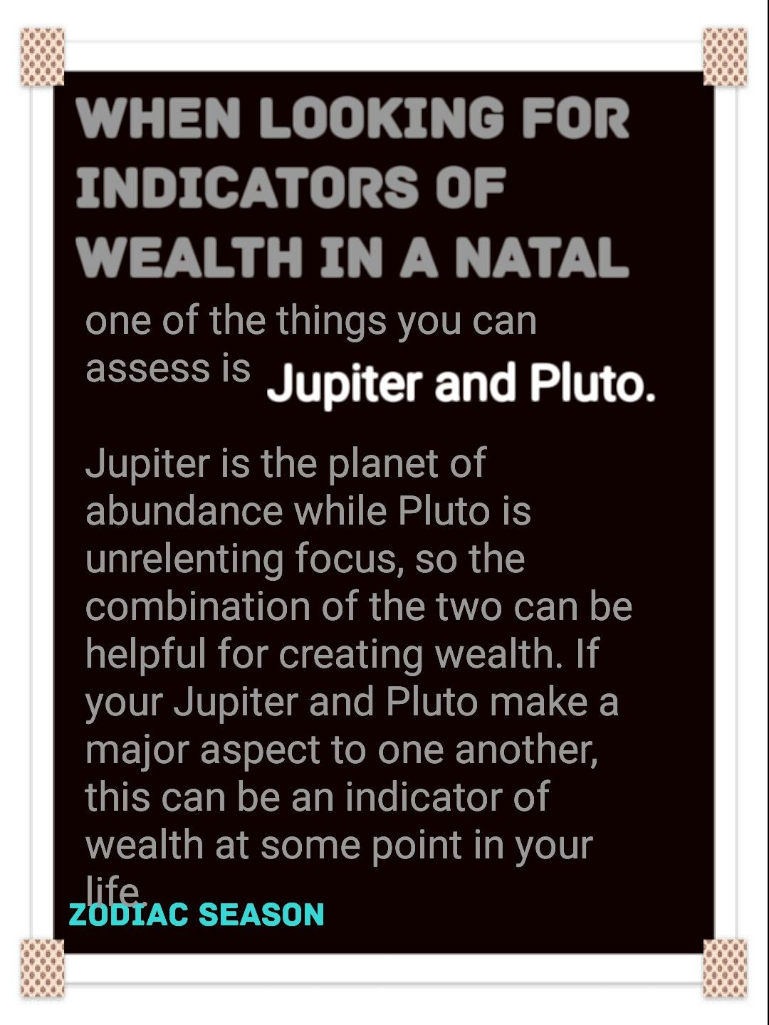 Jupiter Pluto Natal Chart Zodiacseason Zodiac And Astrology
