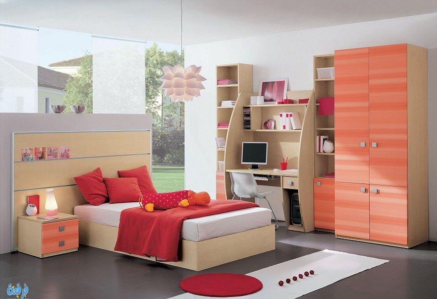 Boys Bedroom Furniture Design Study Table Beds Wardrobe Id916