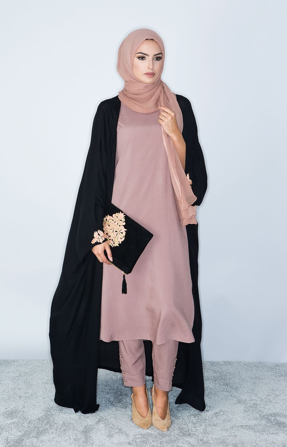 4b3afd2e26f021 Aab UK Tea Pink Slip Dress : Standard view | Hijab Fashion | Hijab ...