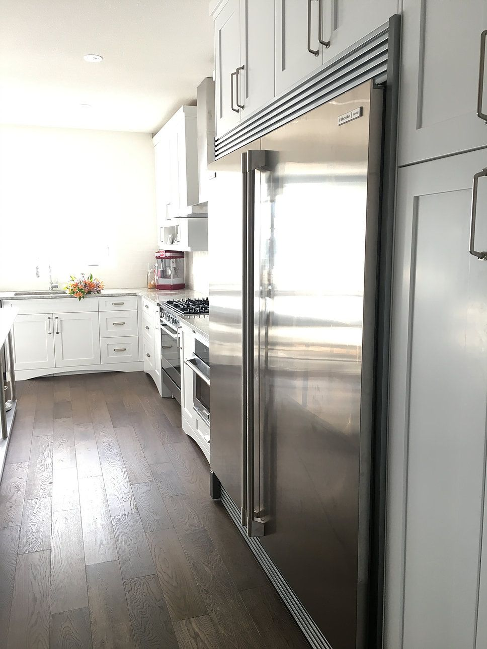 electrolux side by side fridge freezer with built in trim kit