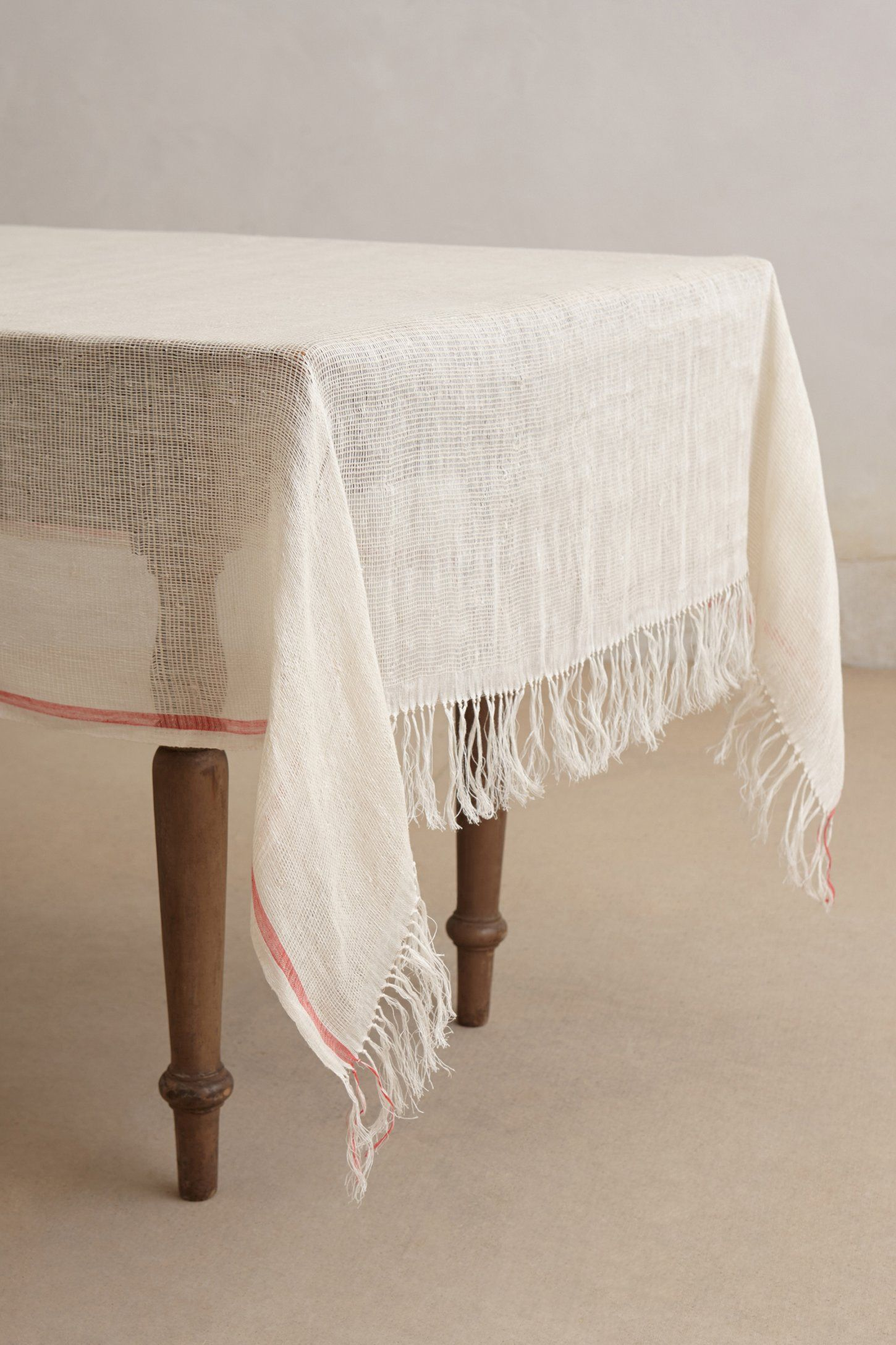 Coral Stripe Tablecloth Anthropologie Com Dining Room Tablecloth Table Cloth Striped Tablecloths #tablecloth #for #living #room
