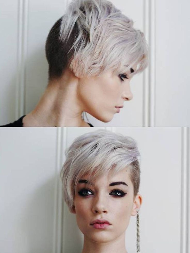 assymetrical haircut glasses shaved - Google Search   Hair color ...