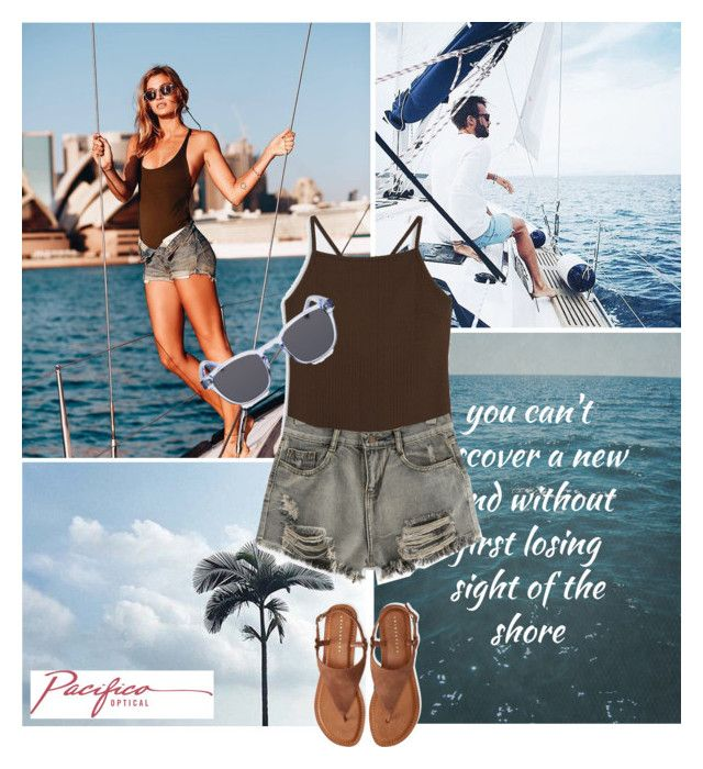 """""""Sail Away"""" by pacificooptical ❤ liked on Polyvore featuring Monki, WithChic and Aéropostale"""
