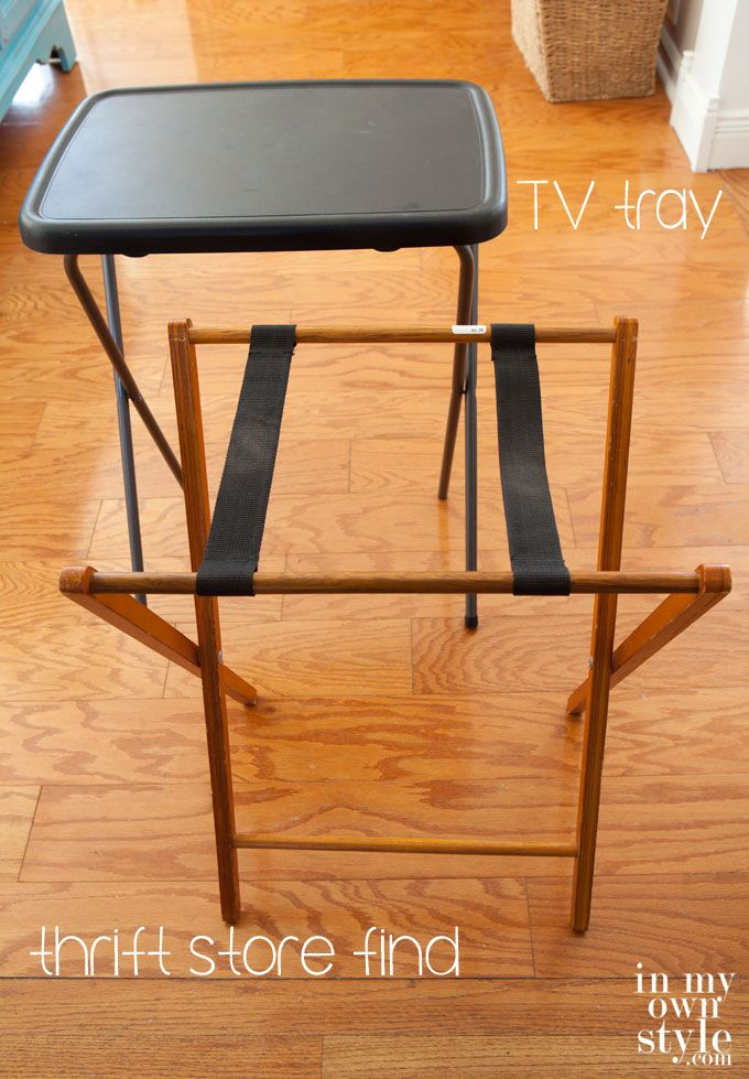 Repurposed Furniture: Acrylic Side Table