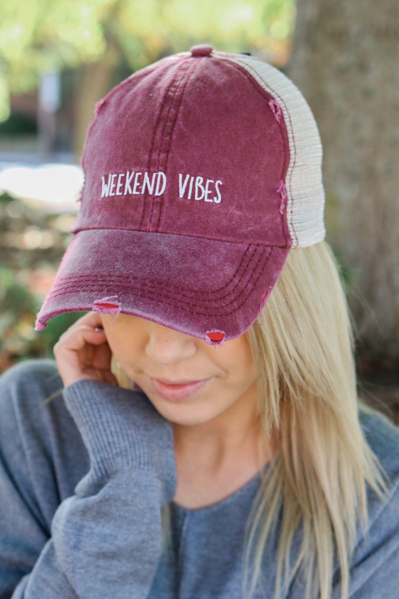 ceee26052e8bb7 Weekend Vibes Baseball Cap | Caps in 2019 | Baseball hats, Hats ...