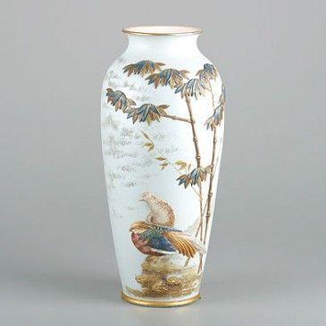 Antique German Vase Glass Stuff Pinterest German Bird Perch