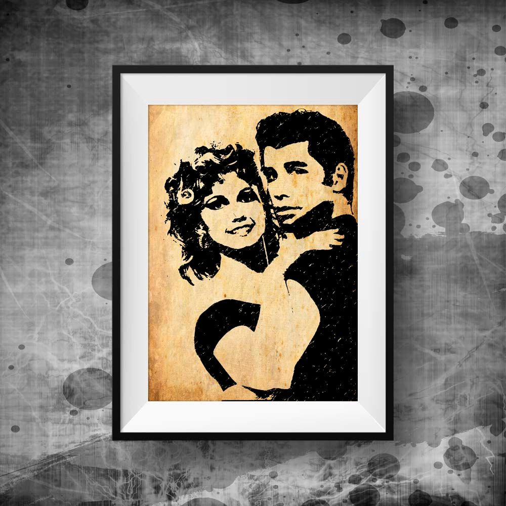 Grease poster print, Grease Movie Art Print | Grease movie and Movie