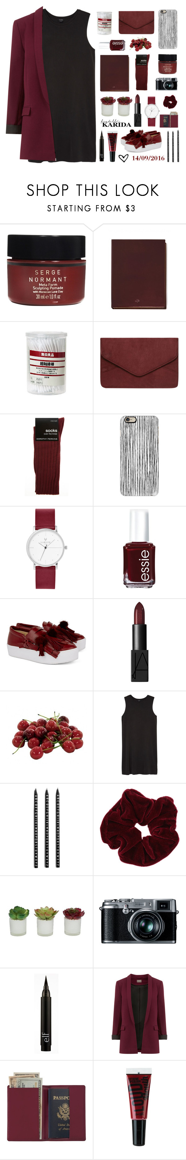"""""""Untitled #74"""" by evaairedio ❤ liked on Polyvore featuring Serge Normant, Mulberry, Muji, Dorothy Perkins, Casetify, Essie, N°21, NARS Cosmetics, INC International Concepts and Monki"""