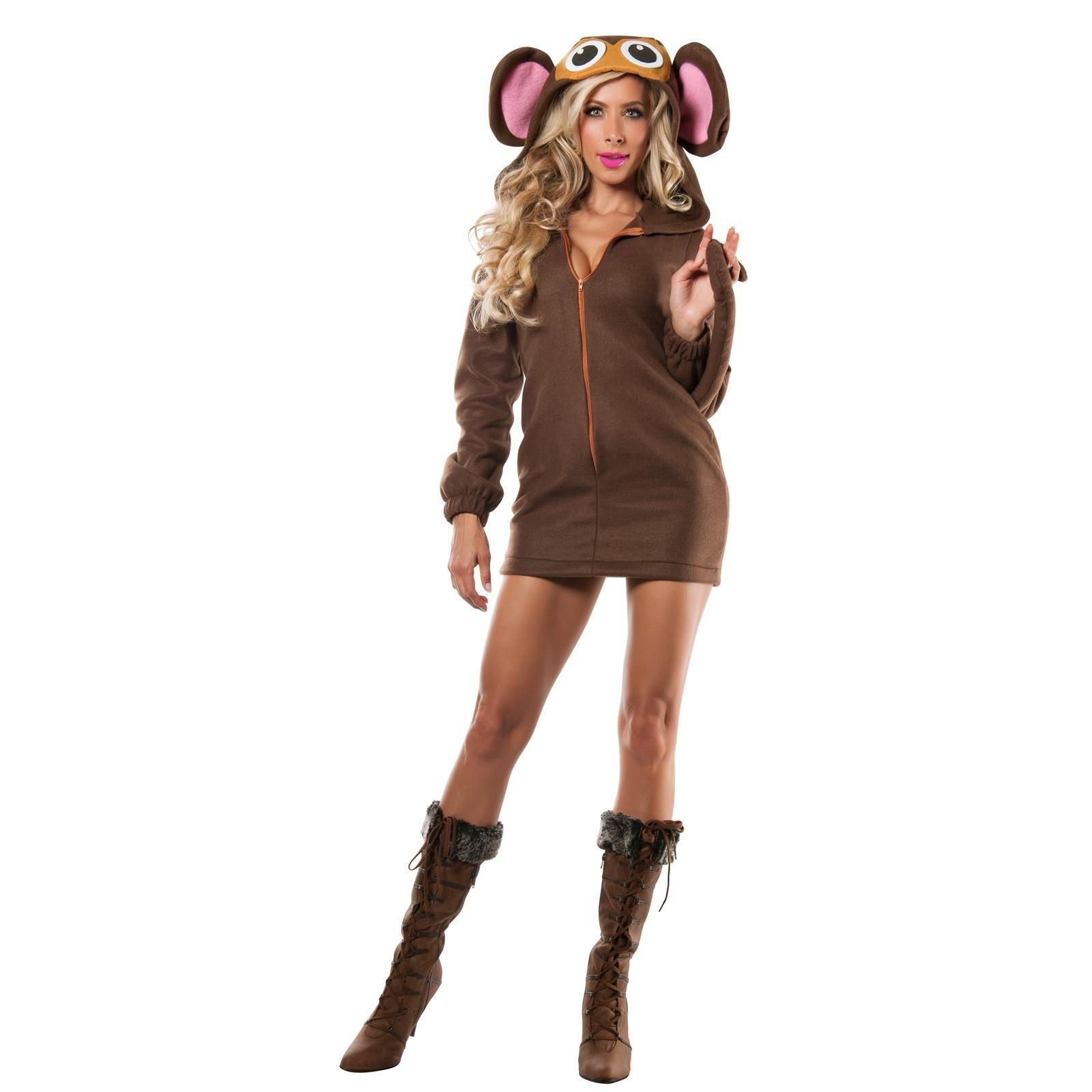 Womens Soft Monkey Costume