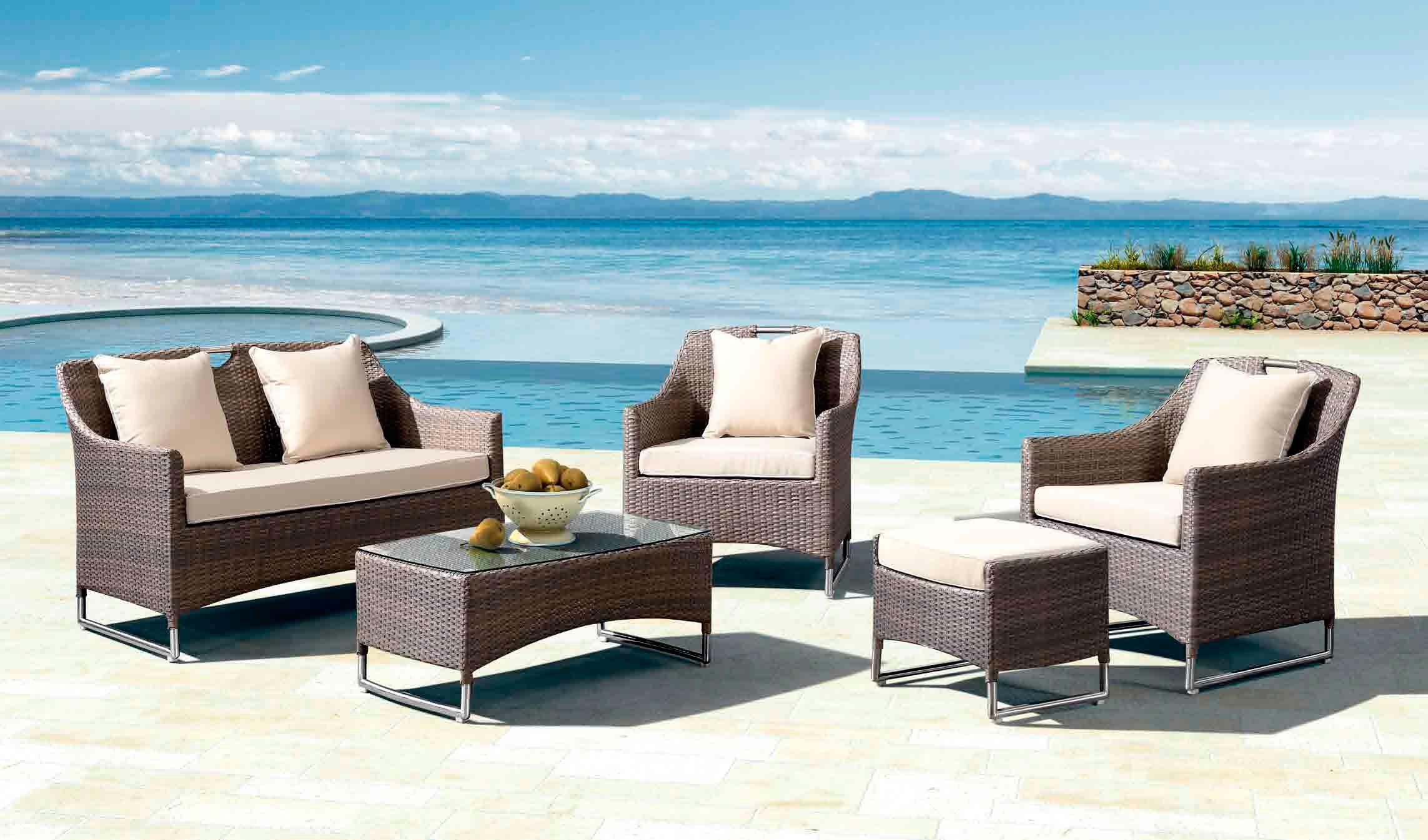 Muebles De Terraza En Rattan Sintetico