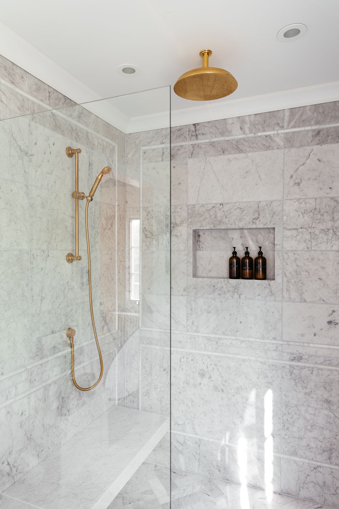 One Room Challenge Master Bathroom The Reveal With Images Shower Ceilings Master Bathroom Marble Showers