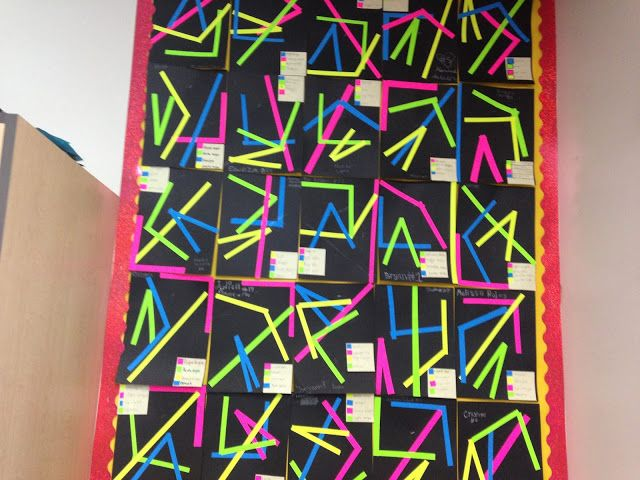 Line Art With Lines And Angles : Geometry angles bulletin board th grade common core
