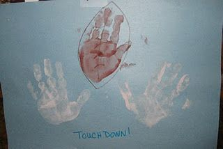 For The Super Bowl Football Handprint Craft Go Team