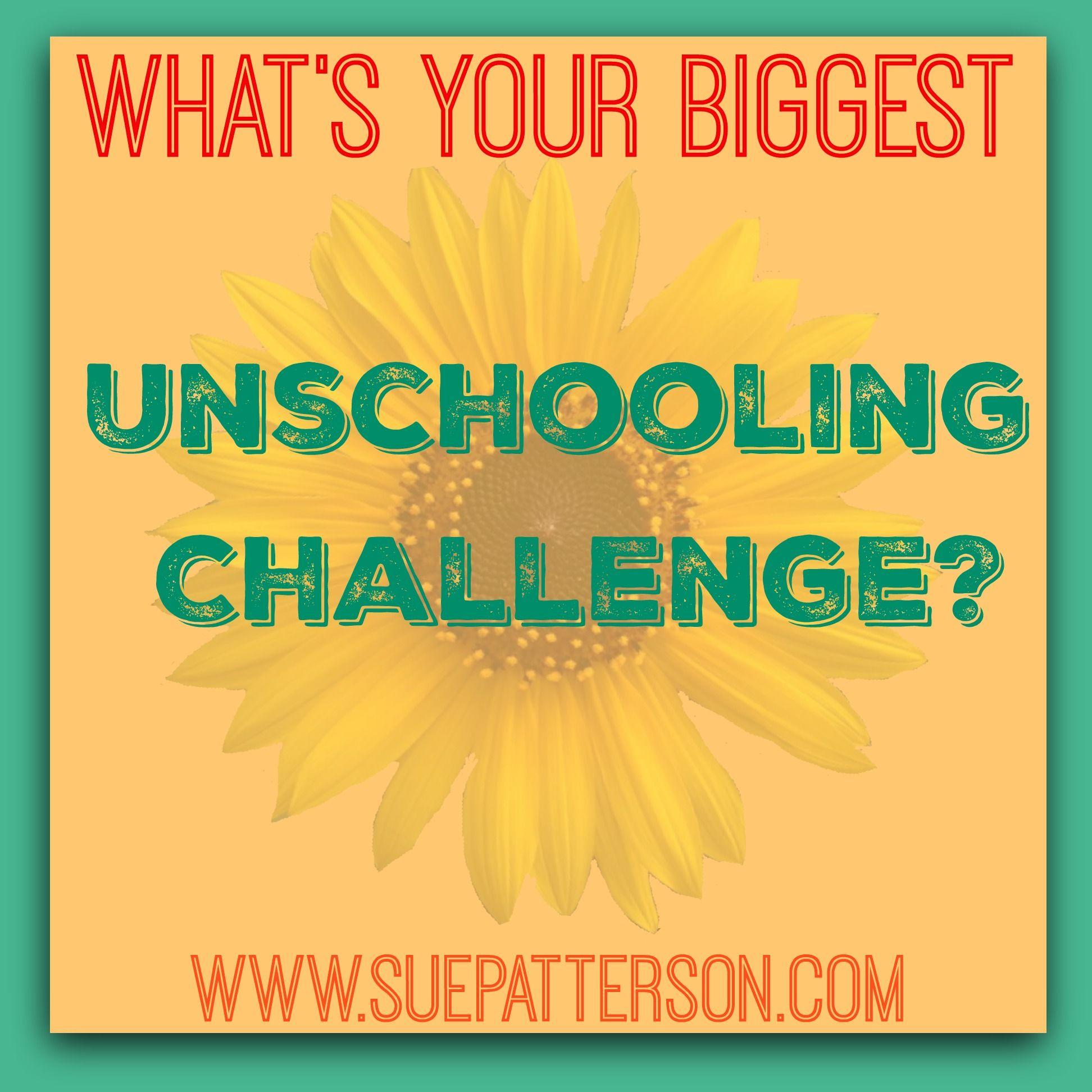 Biggest Unschooling Challenge