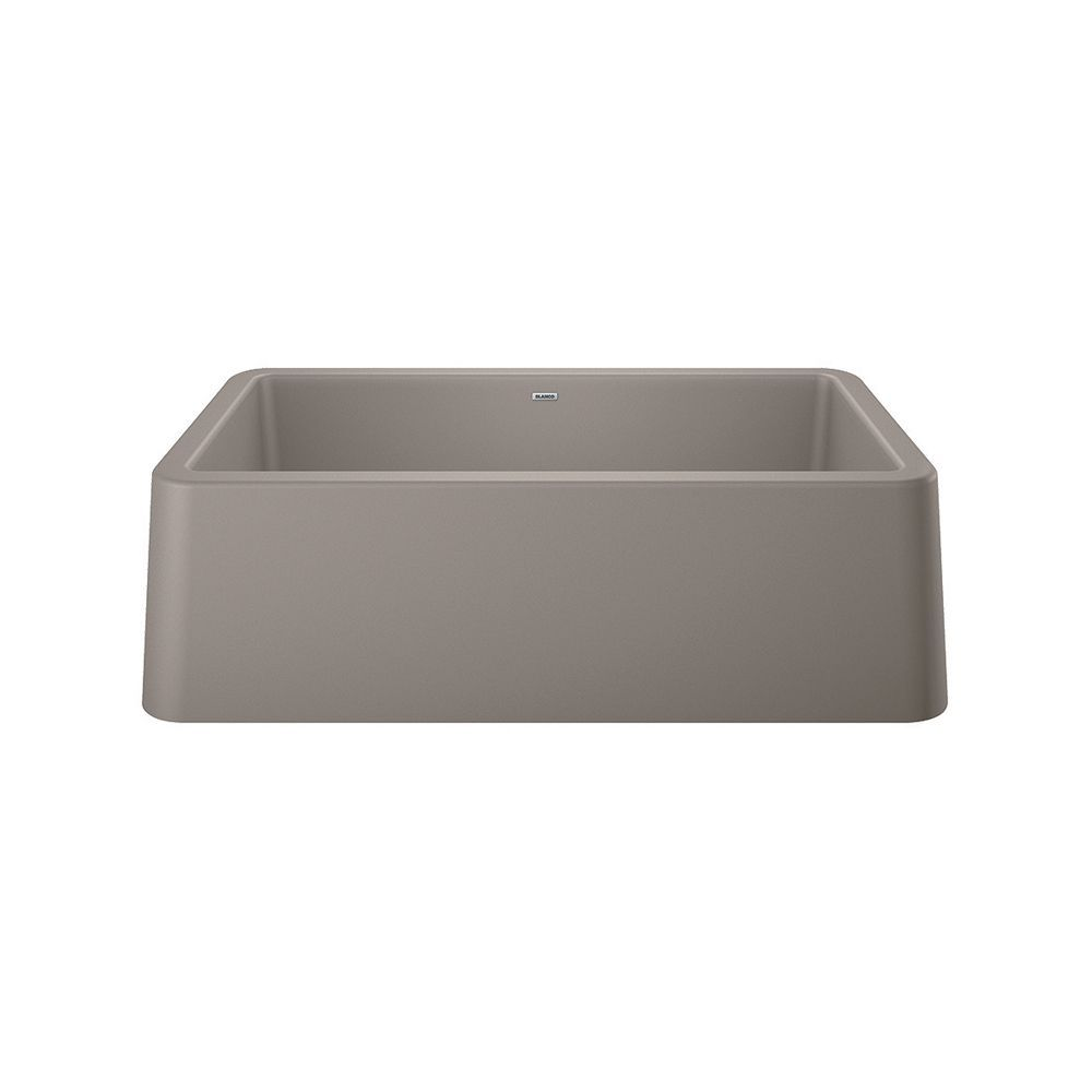 Ikon 33 Farmhouse Kitchen Sink Silgranit Truffle Farmhouse
