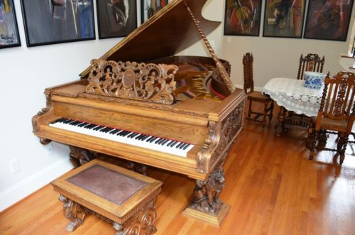 """BOSENDORFER 1927 284cm/9'3"""" art–case. One-of-a-kind. With Royal insignia. Mint - On eBay.  WOW!"""