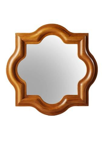 Master's Collection Tudor Wall Mirror in Teak design by Selamat