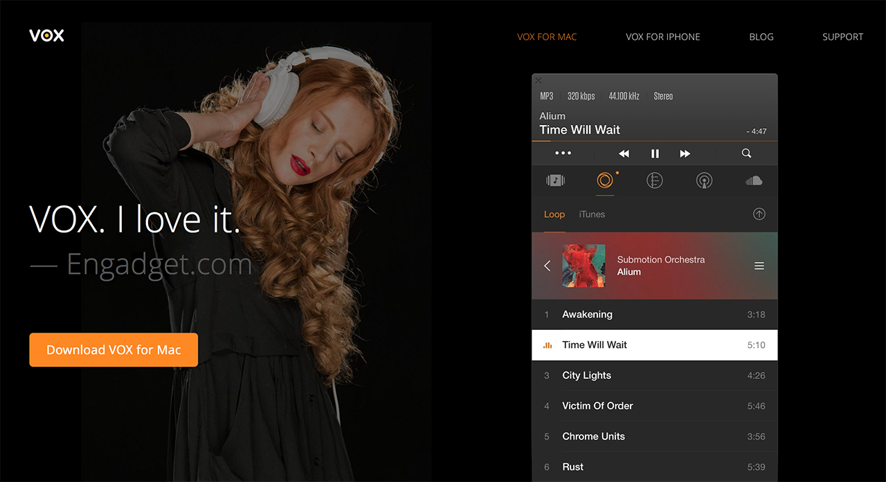 VOX•• #1 downloaded music player for Mac capable to play