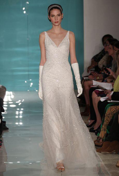 1920s-Inspired Wedding Dresses | Reem acra wedding dress, Wedding ...