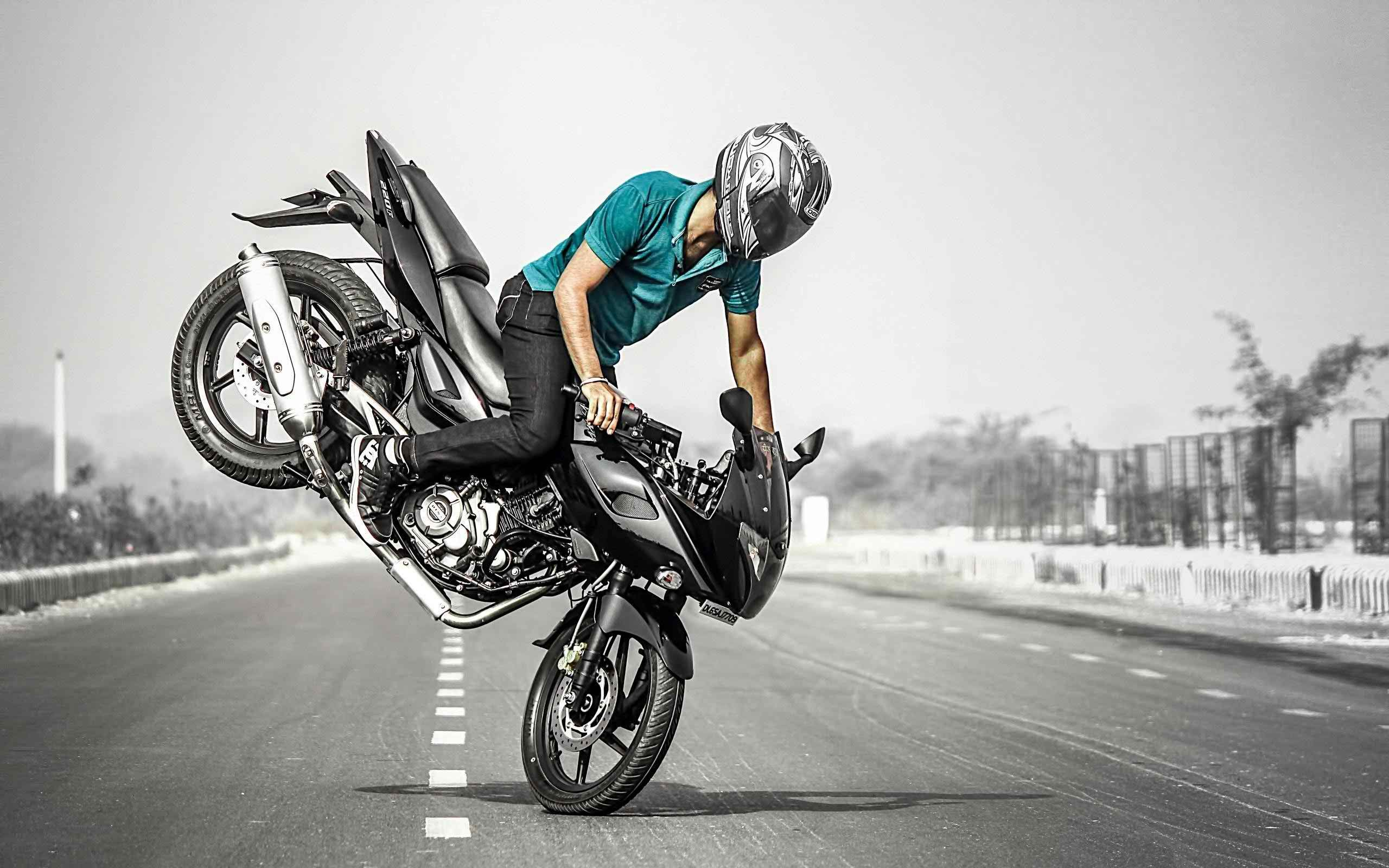 Blue Bike Stunt Hd Wallpaper: Bike Stunt HD Wallpapers