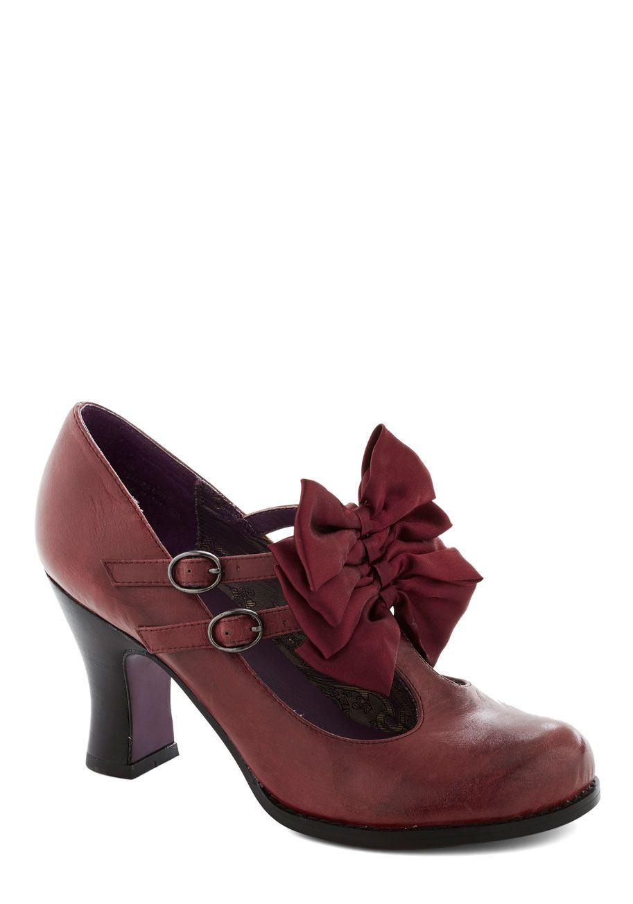 Gift Wrapped Perfection Heel in Wine, #ModCloth