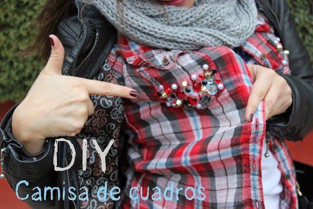 Blog costura y diy: Oh, Mother Mine DIY!!: DIY Customiza tu camisa de cuadros con tachuelas y...