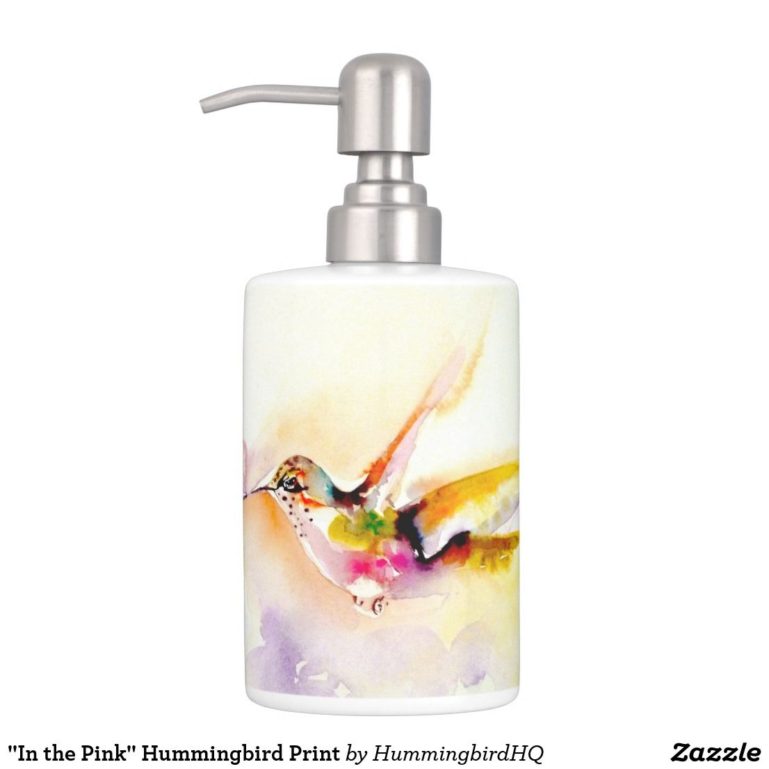 In The Pink Hummingbird Print Bath Set