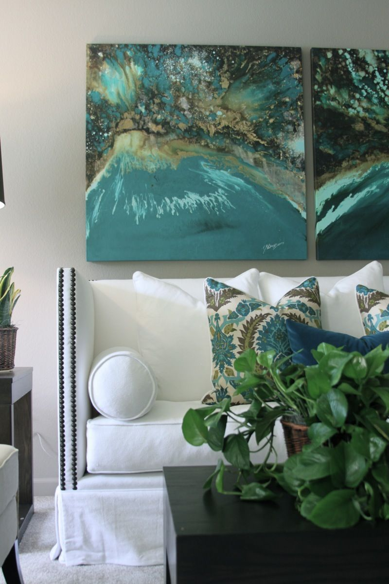 Transitional Living Room With Coastal Vibe And Blue: Greige: Interior Design Ideas And Inspiration For The