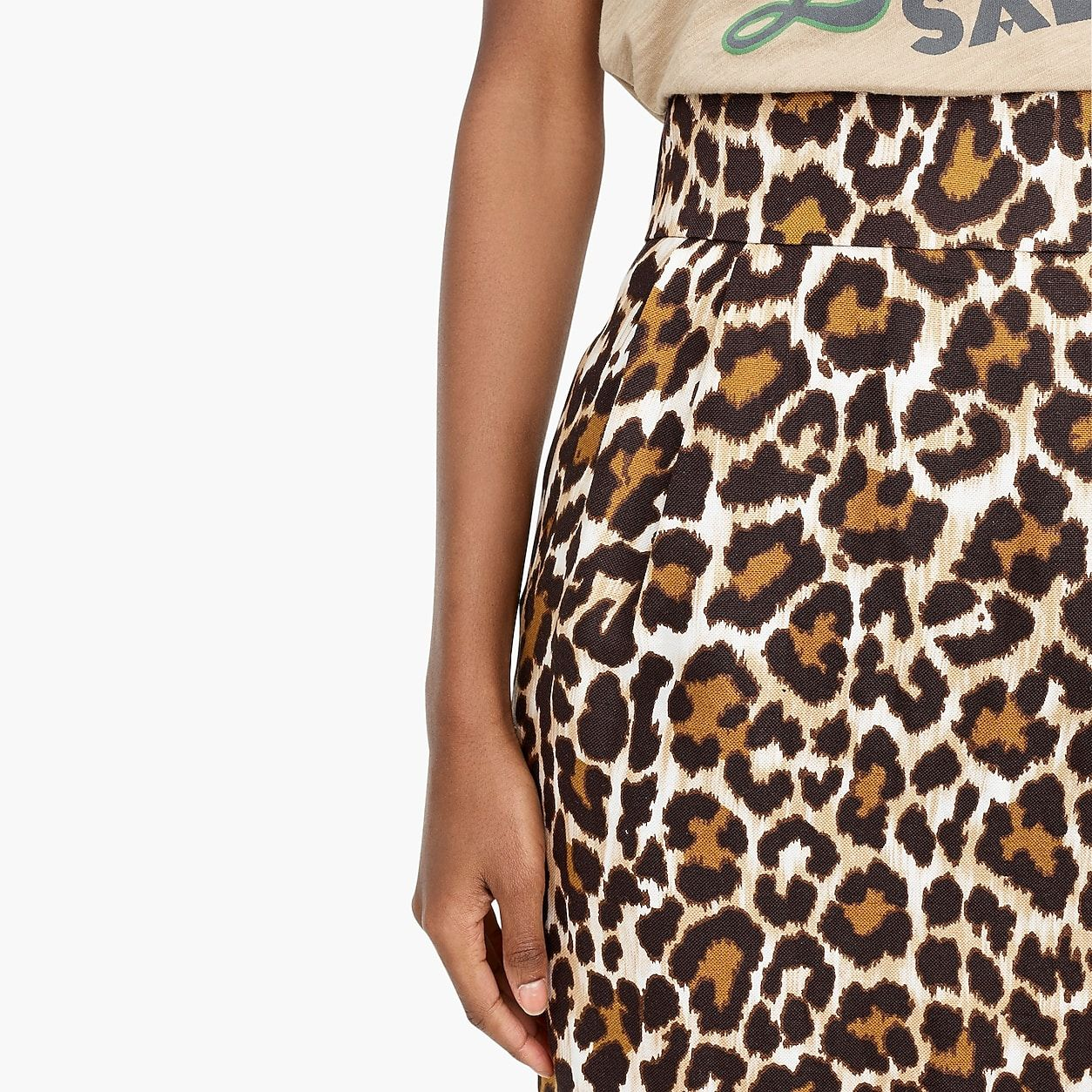 68f7788d96 Linen Pencil Skirt In Leopard Print | Products in 2019 | Skirts ...