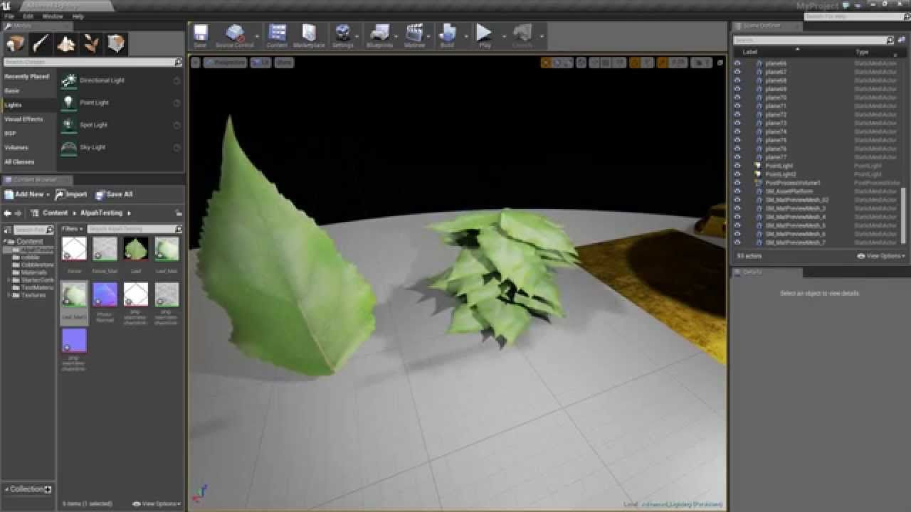 Ue4 Advanced Materials Ep 10 Setting Up Wind On Leaves Grass