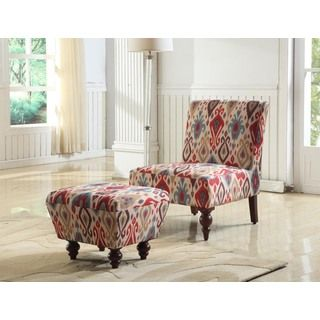 Superb Deluxe Accent Chair/ Ottoman | Overstock.com Shopping   The Best Deals On  Chairs