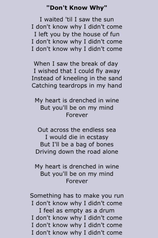Nora Jones Norah Jones Lyrics Me Too Lyrics Music Lyrics