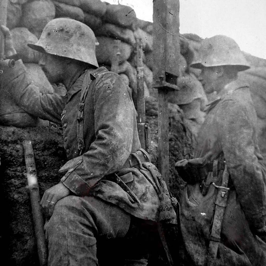 Image result for ww1 german soldiers in trench