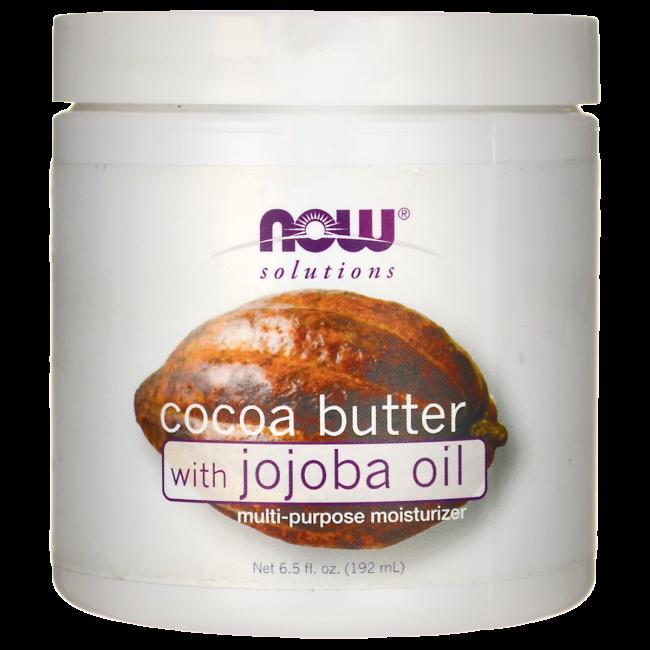 NOW Foods Cocoa Butter with Jojoba Oil | 6.5 fl oz Cream | Skin Care #jojobaoil