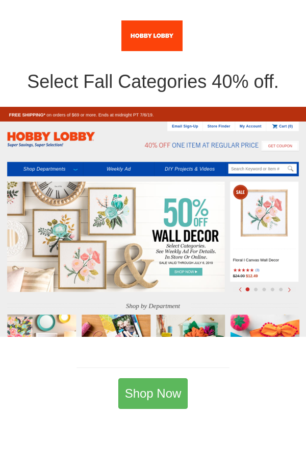 Hobby Lobby Deals Christmas Decor 50 Off Hobby Lobby Coupons And Deals For November 2020 Hobby Lobby Coupon Hobby Lobby Coupon Code Hobby