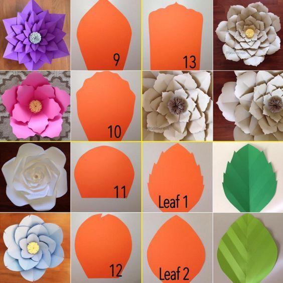 Lindas decoraciones con paneles de flores de papel para tu fiesta