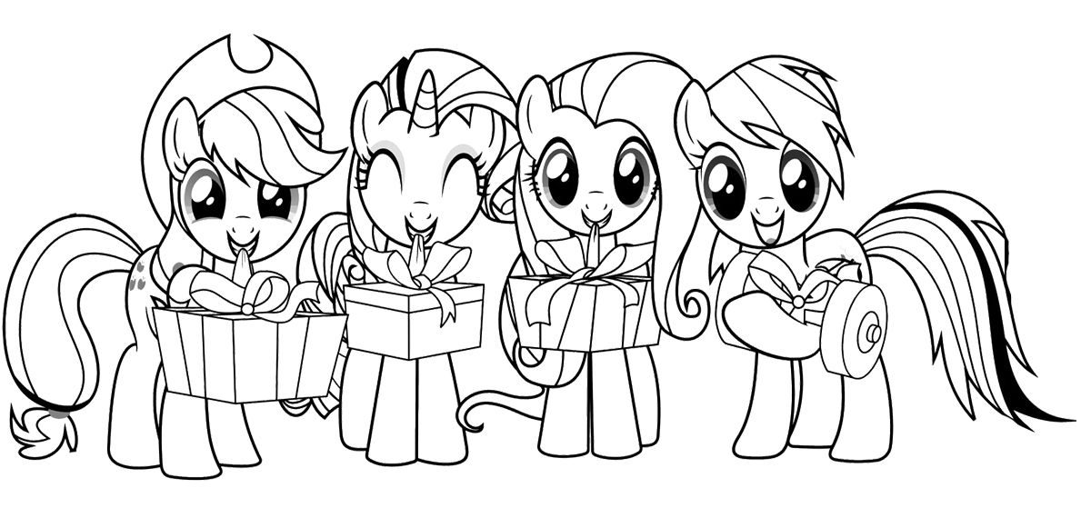 My Little Pony With Friends Coloring Page | My little pony | Pinterest