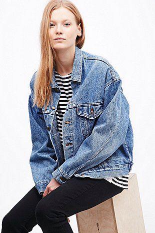 urban renewal vintage originals veste en jean levi 39 s ann es 90 bleue w i s h l i s t c l o. Black Bedroom Furniture Sets. Home Design Ideas