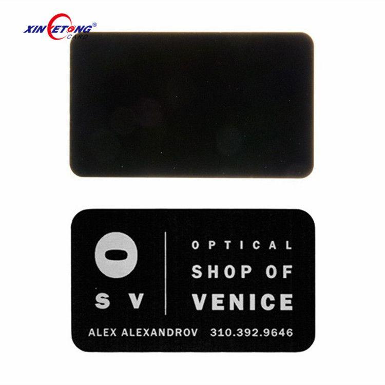 Customized Logo Printing Brushed Stainless Steel Metal Card High ...