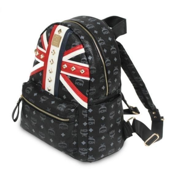 Replica MCM Stark Visetos London Backpack  b16b37b56cc04