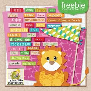 Jungle Parade Add-on Freebie coordinates with Jungle Parade kit
