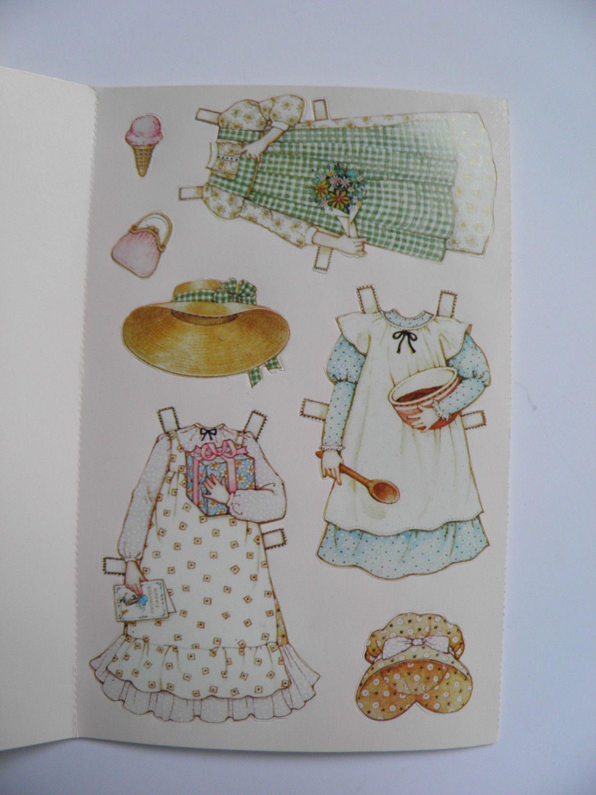 Vintage Holly Hobbie Paper Doll Birthday Card American Greetings