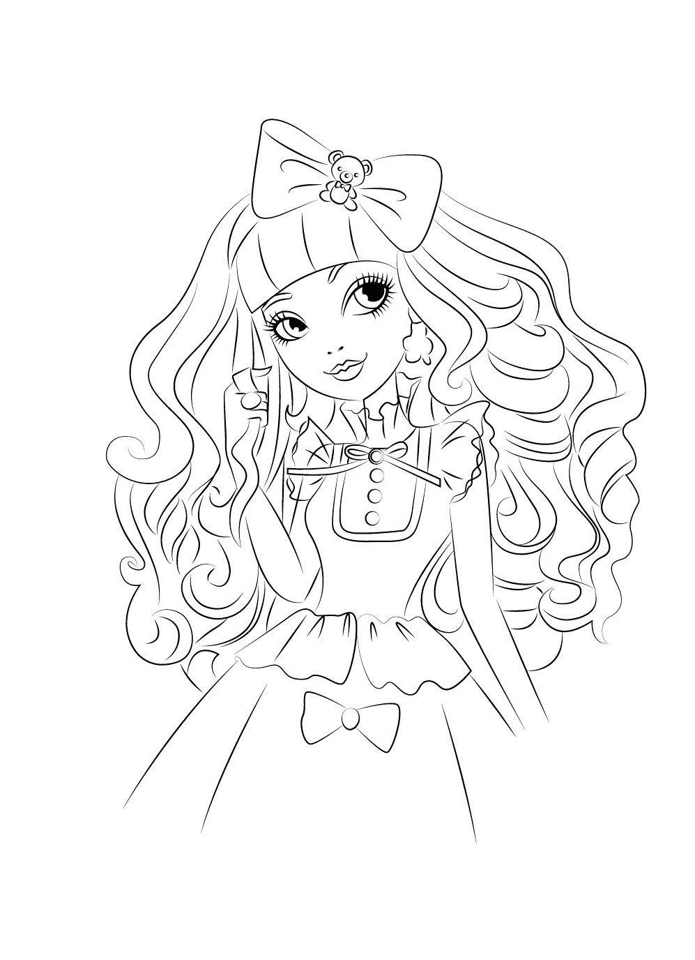Monster High Geburtstag Ausmalbilder : Blondie Locks Ausmalbilder Fajne Pinterest