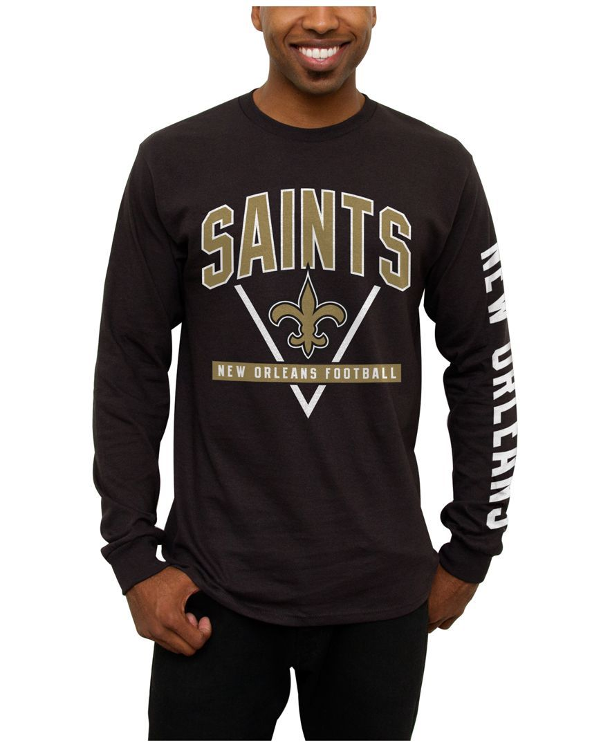 57bad4431 Junk Food Men's New Orleans Saints Nickel Formation Long Sleeve T-Shirt