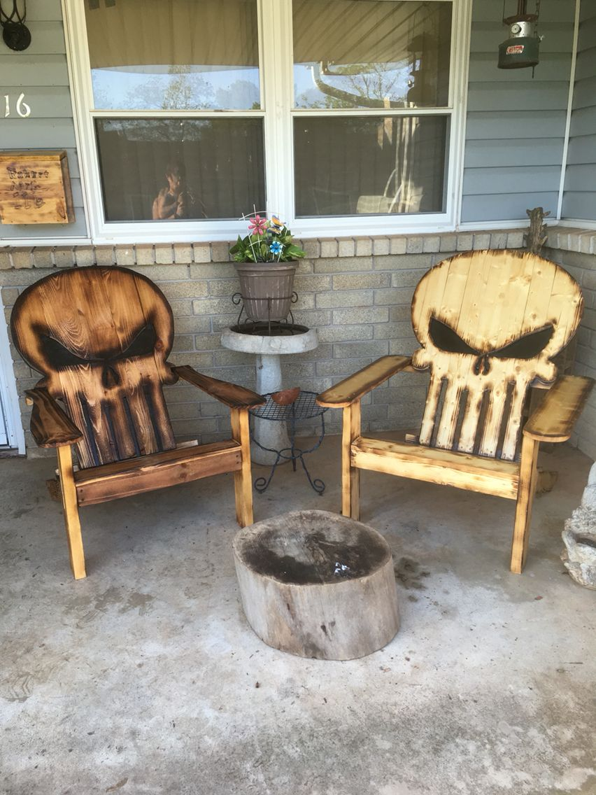 Punisher chairs   Diy furniture, Diy wood projects, Wood ...