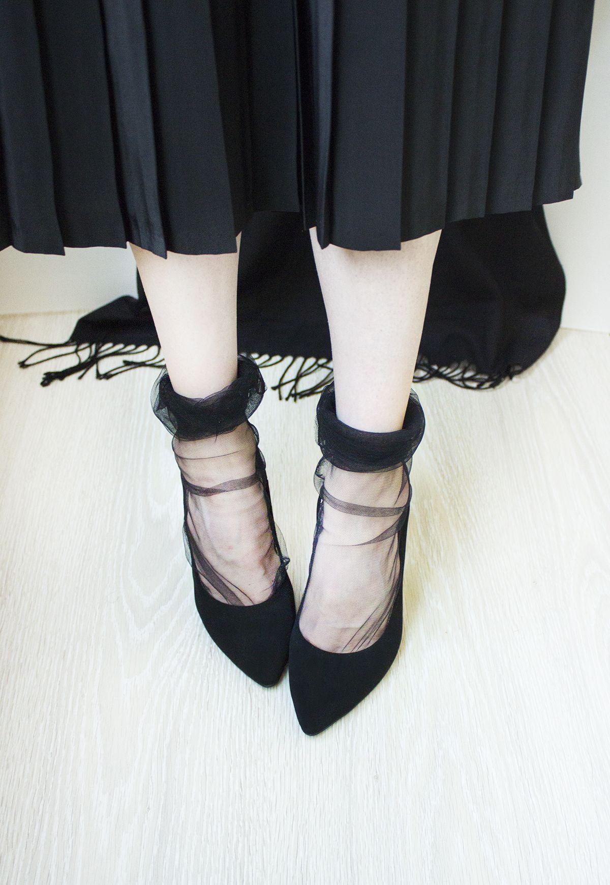 fc7045a62 DIY Tulle Socks – DIY Clothes