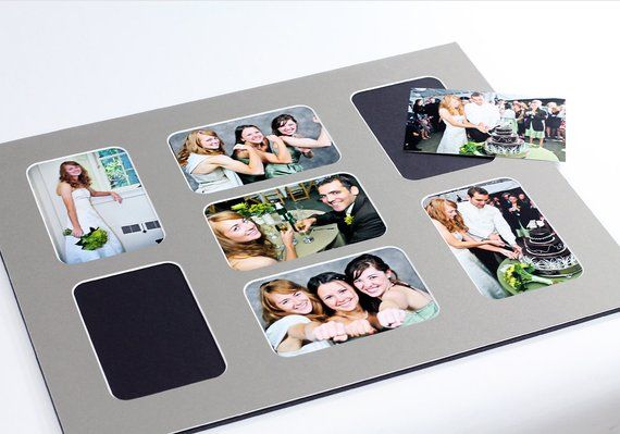 Collage Photo Mat Fits 16x20 Frame Multi Opening Custom Color